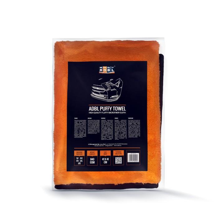 mikrofibra adbl puffy towel etykieta