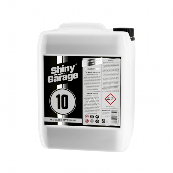 shiny garage pre-wash citrus oil 5l