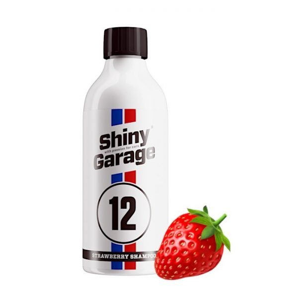 shiny garage strawberry car shampoo 500ml