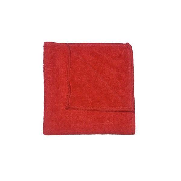 Ściereczka z mikrofibry 30x30cm czerwona